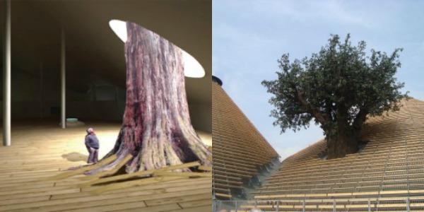 padiglione zero albero in resina