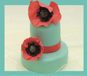 Cake Design Papaveri di pasta di zucchero