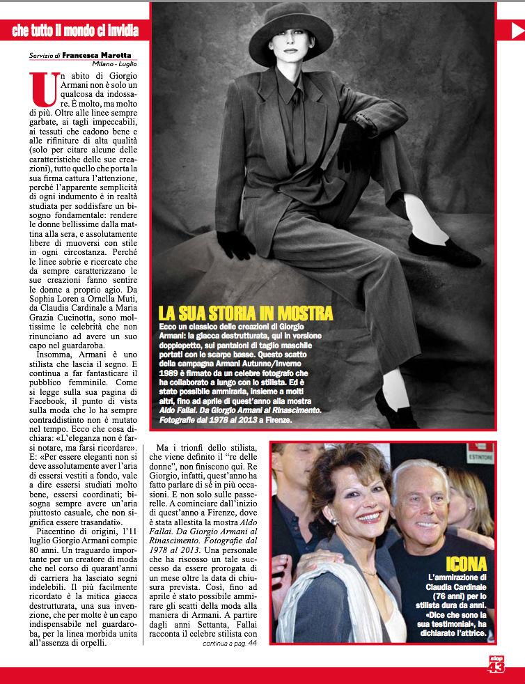 Giorgio Armani Triofi da Re 2 luglio2014