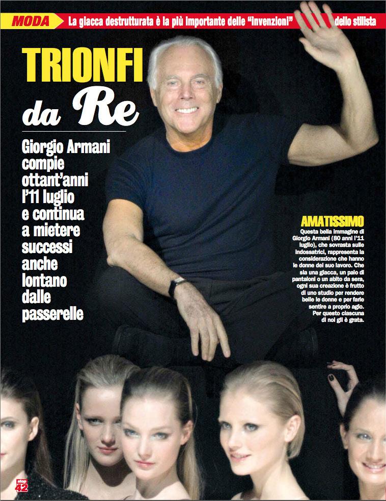 Giorgio Armani Trionfi da Re luglio 2014