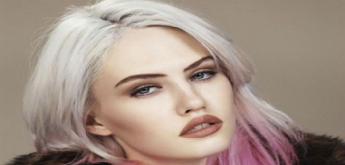 capelli grigio rosa