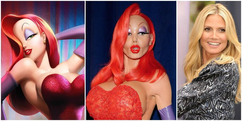 Heidi klum ad halloween come jessica rabbit tablettv