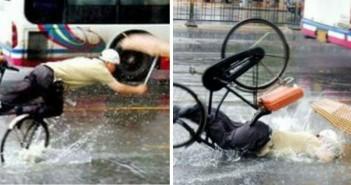 la sfortuna caduta in bici