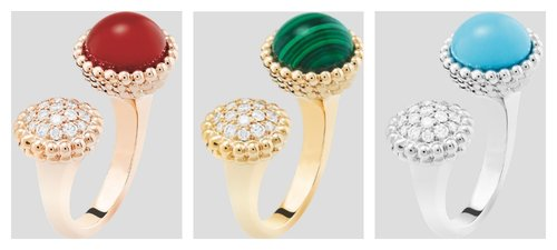 Van Cleef & Arpels pietre dure e diamanti della collezione Perlée